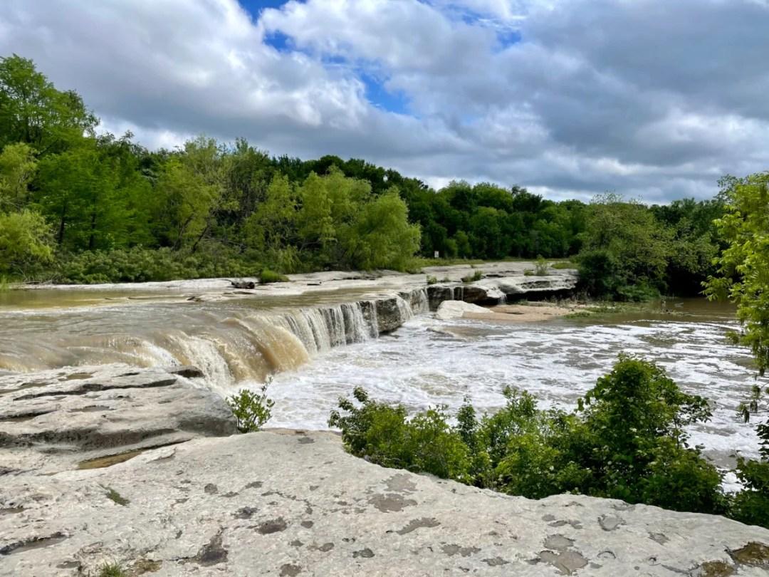 Lower McKinney Falls after rain - Plan an Unforgettable McKinney Falls State Park Camping Trip
