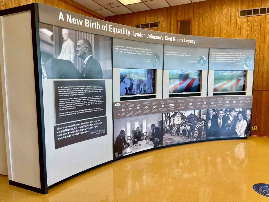 LBJ Ranch Civil Rights exhibit - Explore LBJ Ranch and the Texas Hill Country