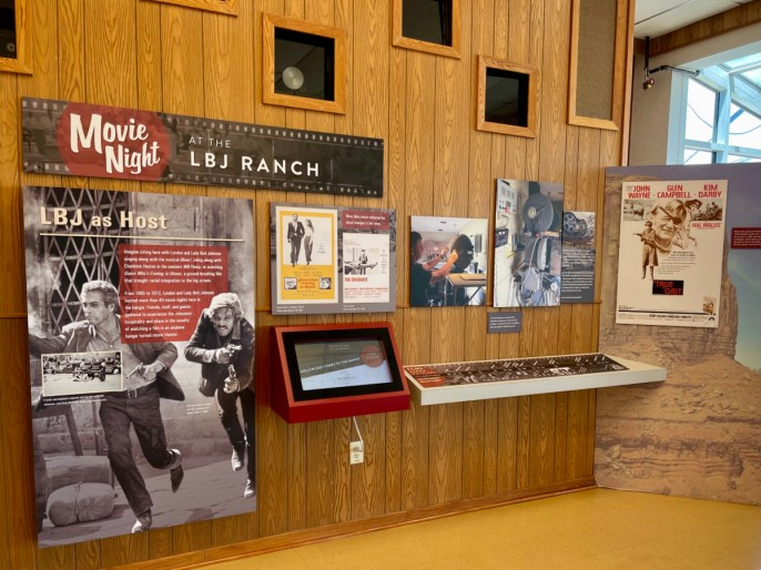 LBJ Ranch Movie Night exhibit - Explore LBJ Ranch and the Texas Hill Country