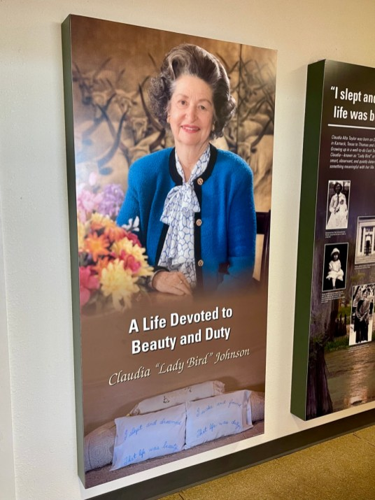 Lady Bird panel - Explore LBJ Ranch and the Texas Hill Country