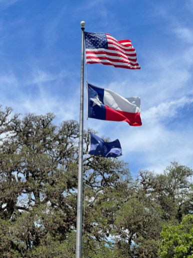Texas White House flags rotated - Explore LBJ Ranch and the Texas Hill Country