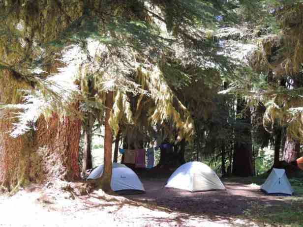 The lovely Sol Duc campground is just a short walk from Sol Duc Hot Springs Resort