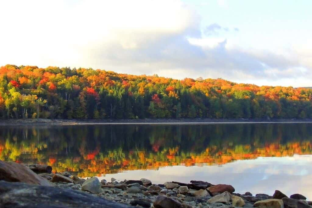 The gorgeous Lake Whitingham, also known as the Harriman Reservoir