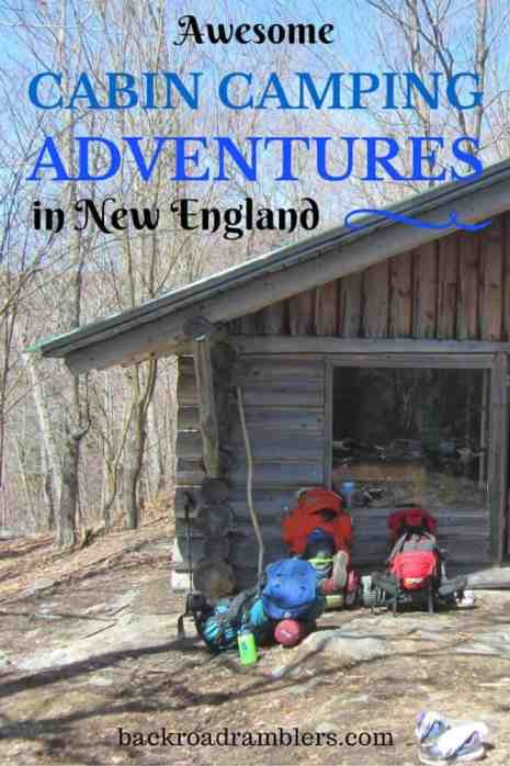 You can camp in the winter without freezing your butt off on the cold ground. These cabins in New England are great for fall, winter, and spring camping.
