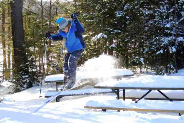 Skiing Woodford State Park