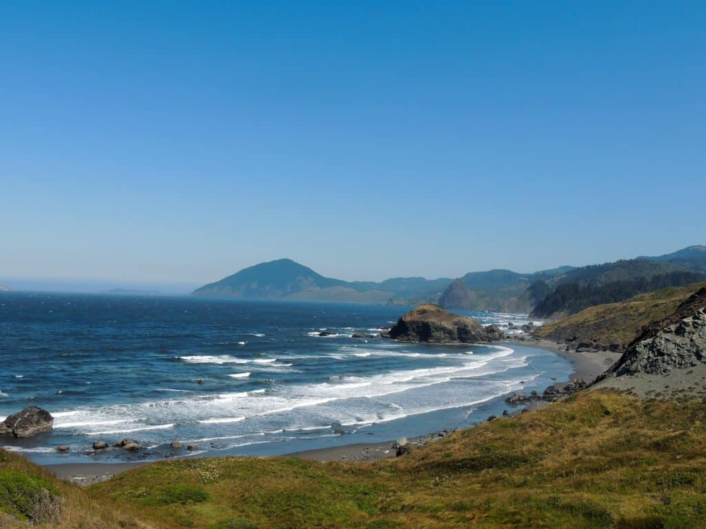 Oregon Coast Highway 101 - A view from a parking area.