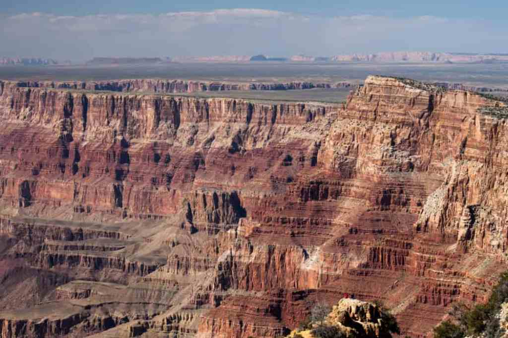 The view of the Grand Canyon from the Desert View Watchtower