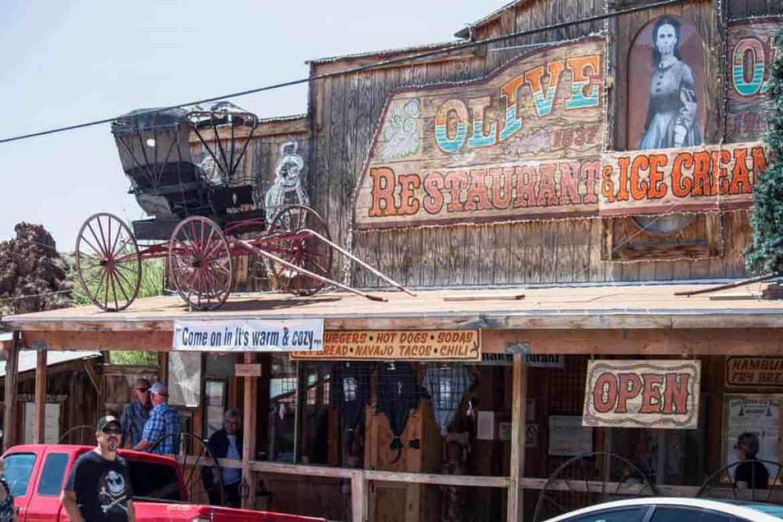 Olive Restaurant and Ice Cream Shop in Oatman, AZ