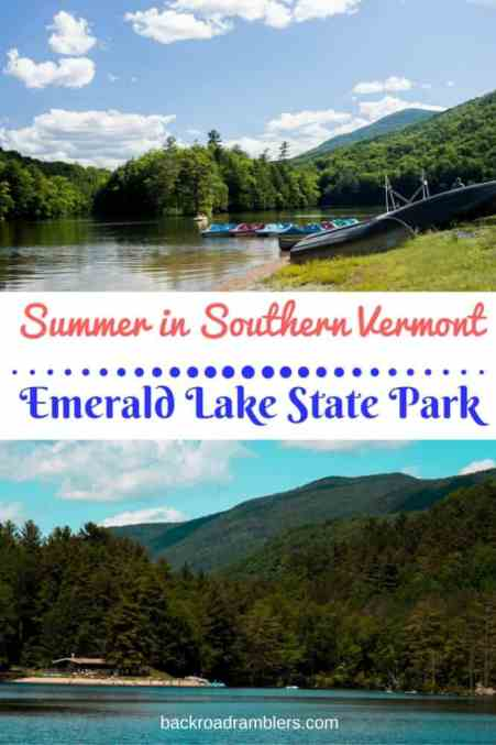 Emerald Lake State Park is a gem in Southern Vermont, not far from Manchester and the Green Mountains, it's a great place for family camping, swimming, paddling, and hiking!
