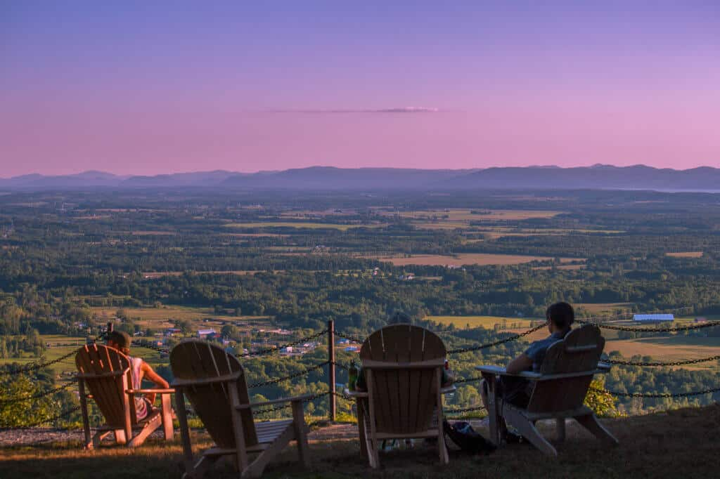 Sunset over the Lake Champlain Valley from the top of Mt. Philo