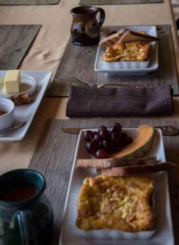 breakfast - Vermont treehouse