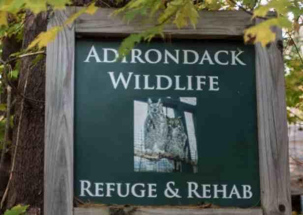 Adirondack Wildlife Refuge sign