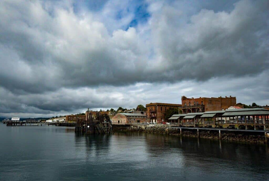 Port Townsend, Washington on a cloudy day
