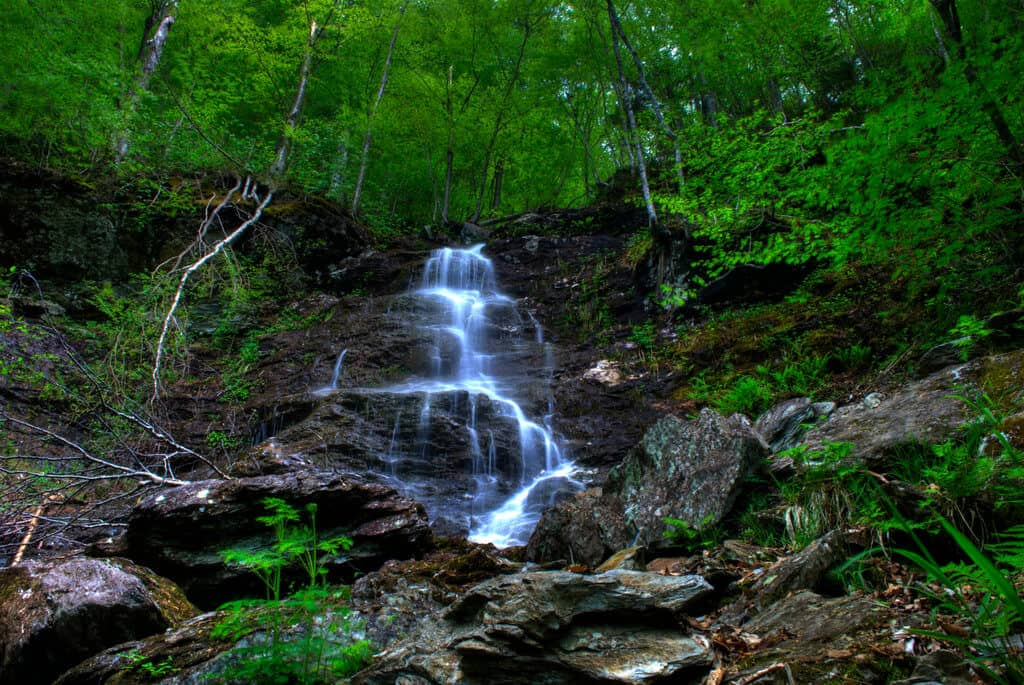 March Cataract Falls in Williamstown, MA