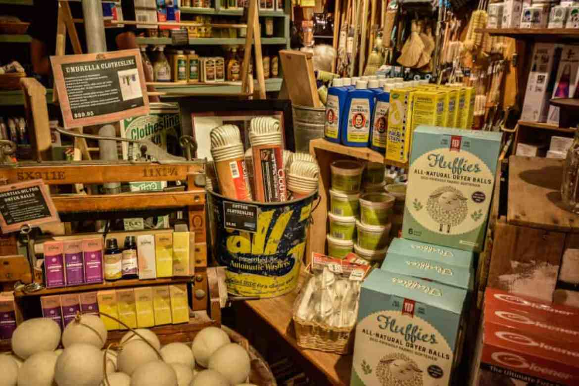 A selection of home and laundry goods available at the Vermont Country Store