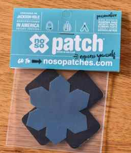 NOSO patches from the December 2018 Cairn box.