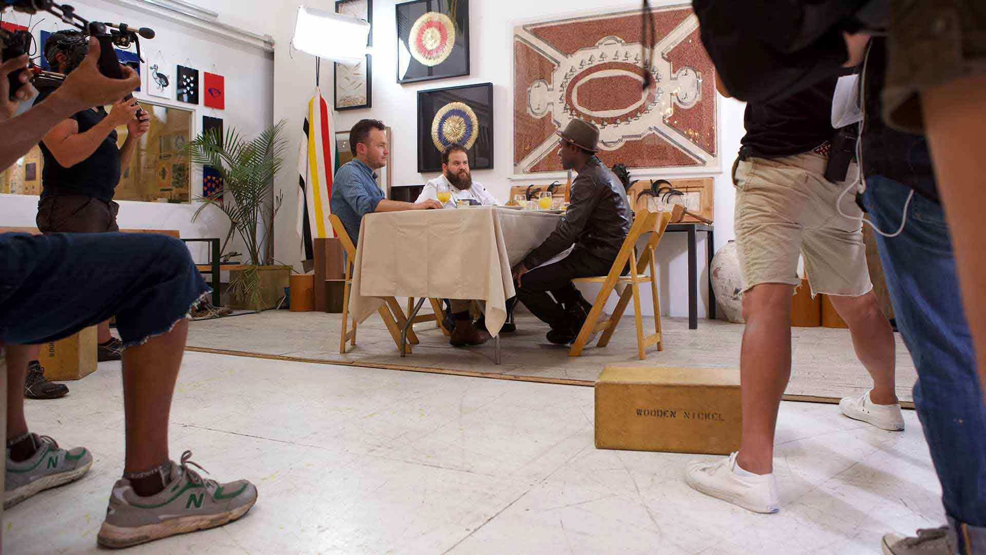 Culinary Beats Aloe Blacc Filming