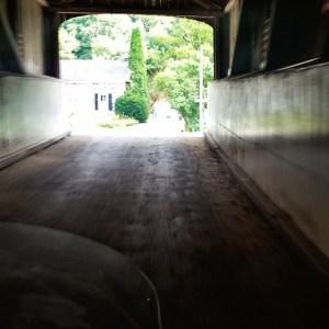 Going through the kissing bridge
