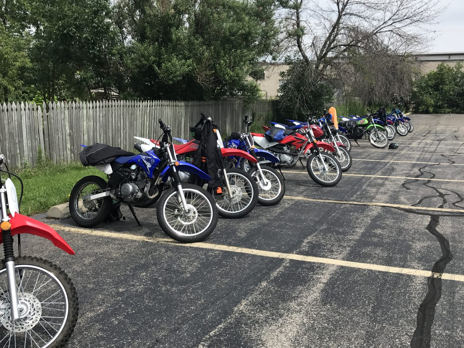 Time to park the bikes and head to lunch