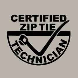Vinyl Decal – Zip Tie Technician