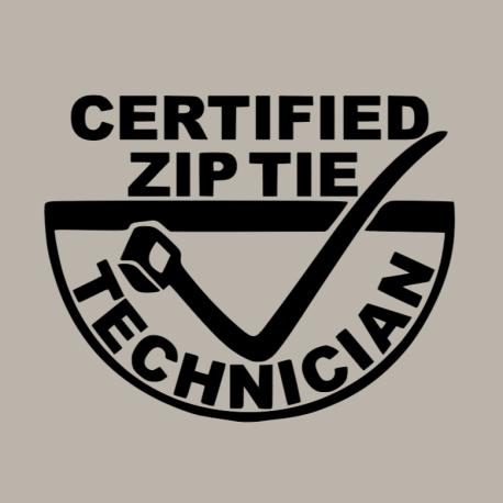 Certified Zip Tie Technician Decal