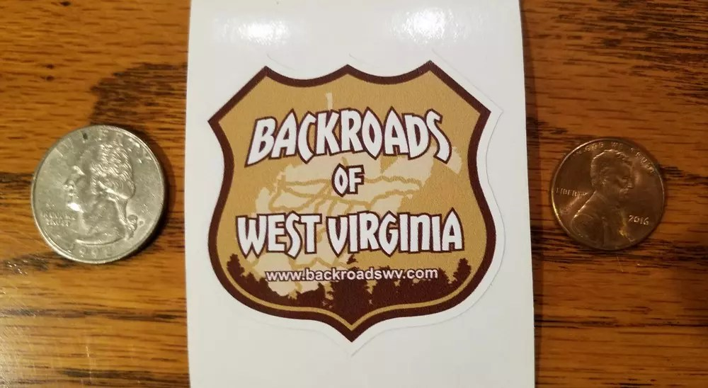 BACKROADS OF WV STICKER
