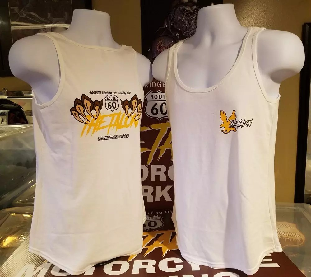 THE TALON LADIES WHITE TANK TOP