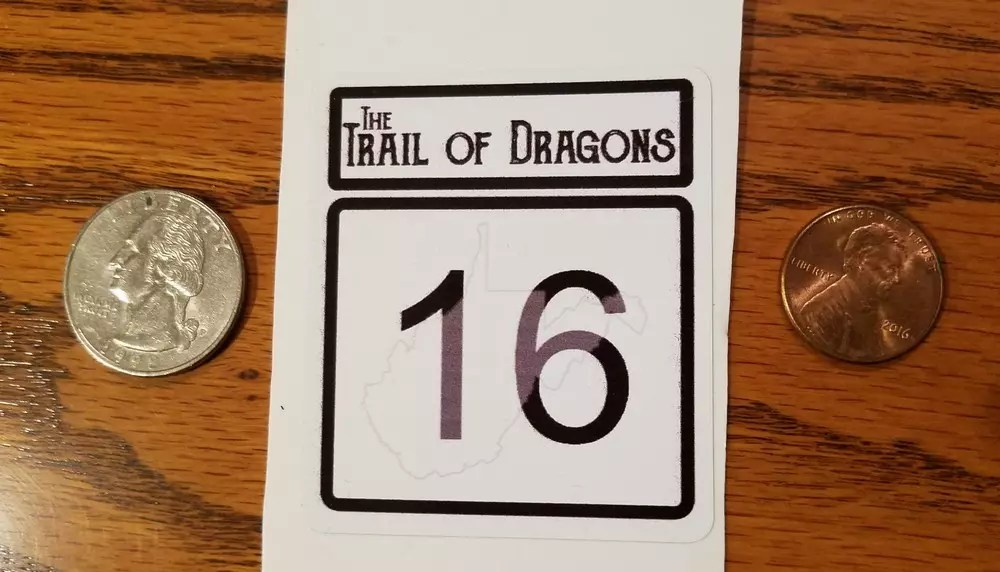 THE TRAIL OF DRAGONS STICKER
