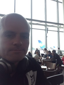 Get breakfast in the airport