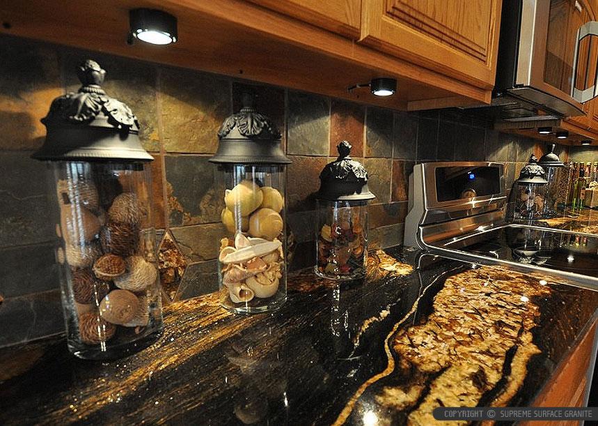 Black Countertop Backsplash Ideas | Backsplash.com on Kitchen Backsplash For Black Countertop  id=31919