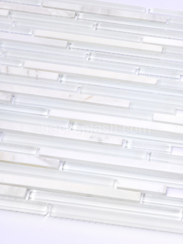 White Marble Glass Modern Backsplash Tile
