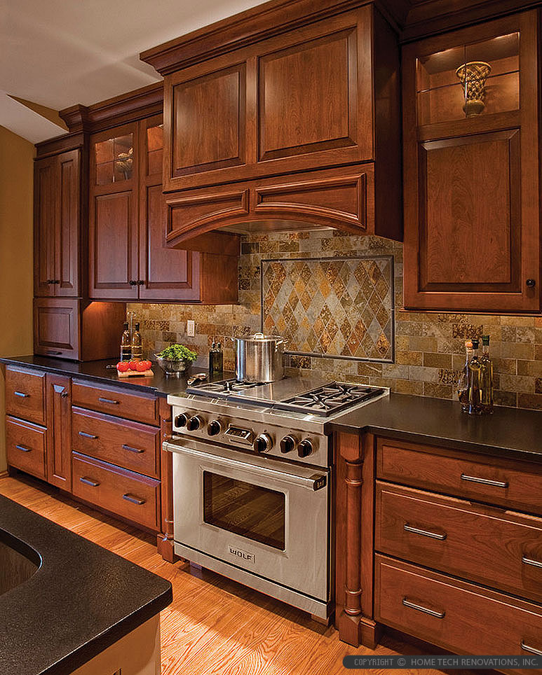 Brown Gray Subway Slate Backsplash Tile Backsplash Com