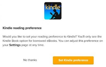 kindle preferences