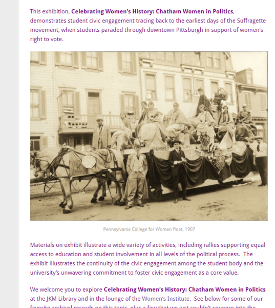 suffrage women and horse
