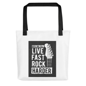 Live Fast Rock Harder Tote Bag