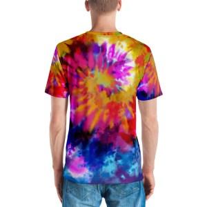Multi Coloured Tie Dye Men's Tee Shirt