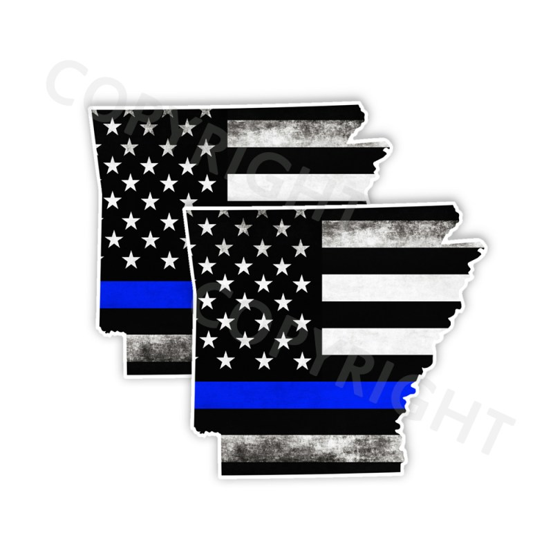 Thin Blue Line Arkansas Bumper Stickers