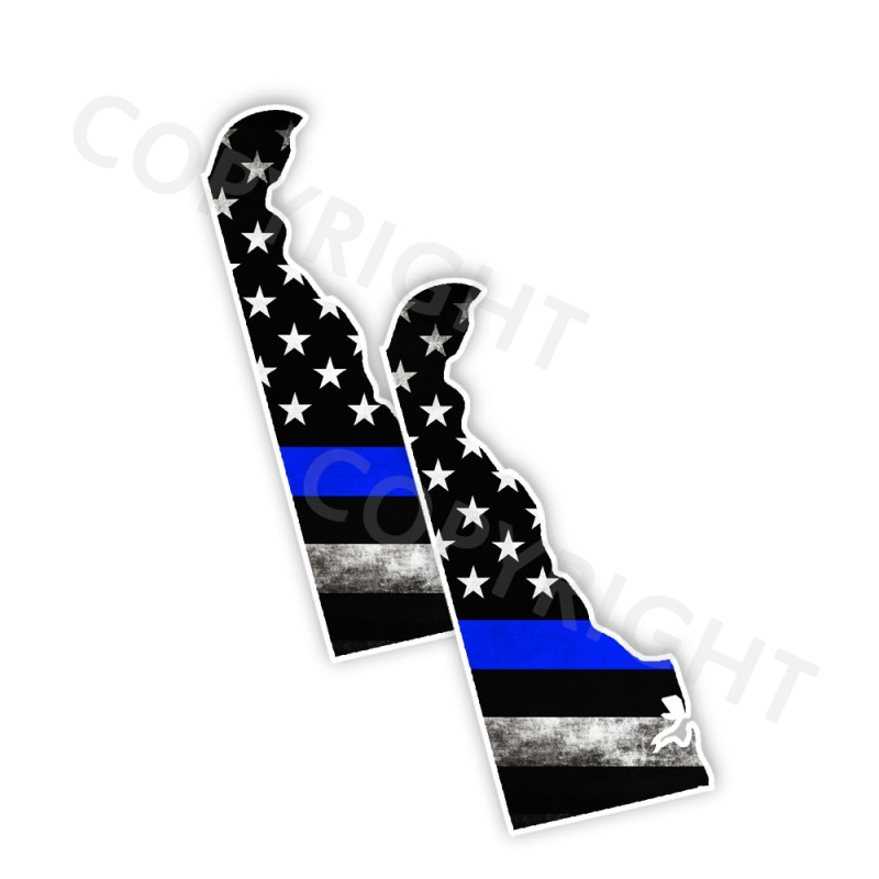 Thin Blue Line Delaware Bumper Stickers