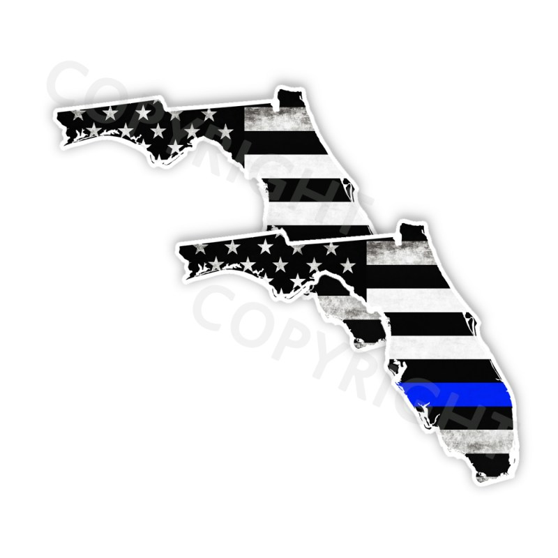 Thin Blue Line Florida Bumper Stickers
