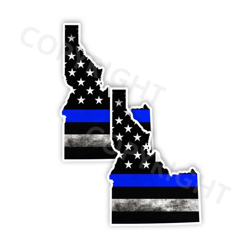Thin Blue Line Idaho Bumper Stickers
