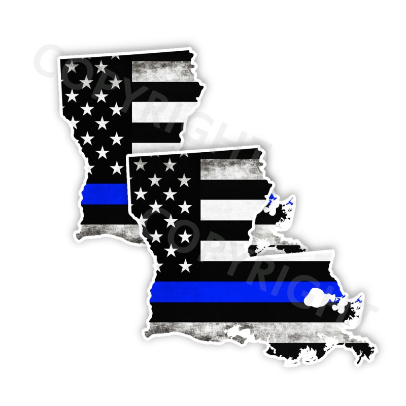 Thin Blue Line Louisiana Bumper Stickers