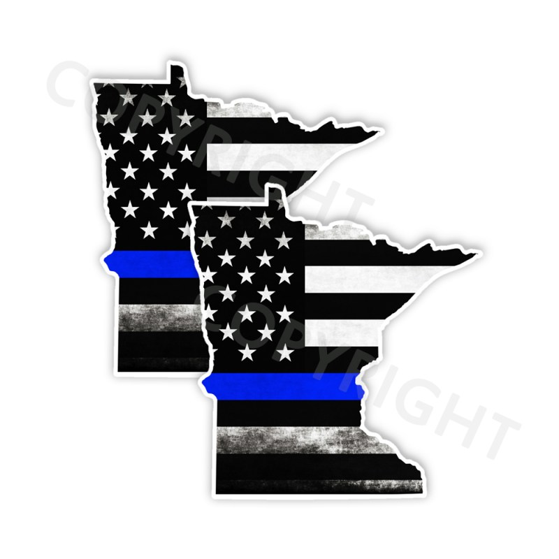 Thin Blue Line Minnesota Bumper Stickers