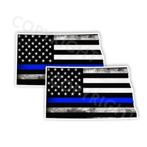 Thin Blue Line North Dakota Stickers