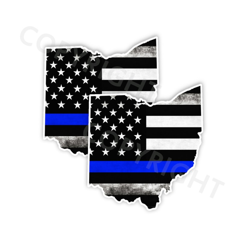 Thin Blue Line New York Bumper Stickers