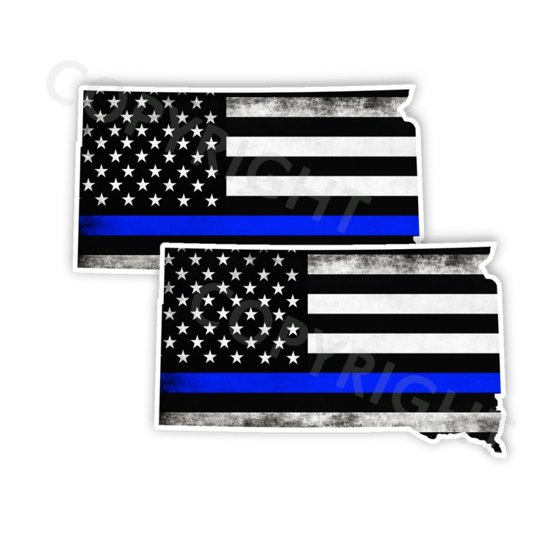 Thin Blue Line South Dakota Bumper Stickers