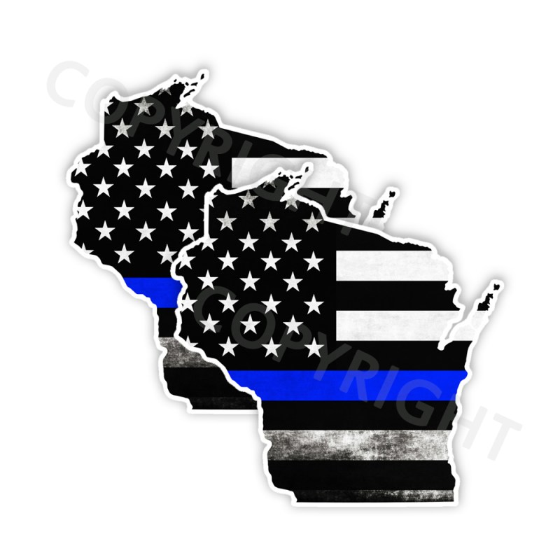 Thin Blue Line Wisconsin Stickers