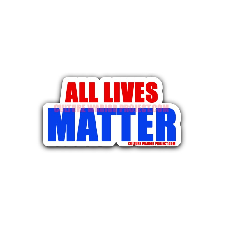 All Lives Matter Bumper Stickers 2 Pack
