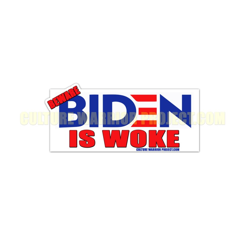 Beware Biden Is Woke STICKERS - 2 Pack