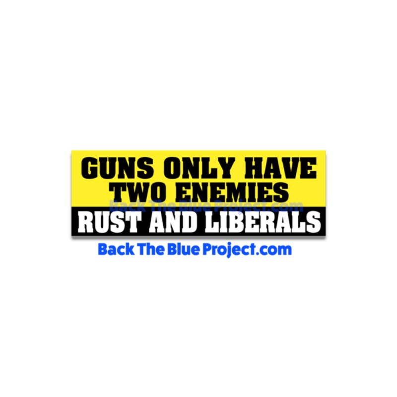 Guns Only Have Two Enemies Stickers 2 Pack