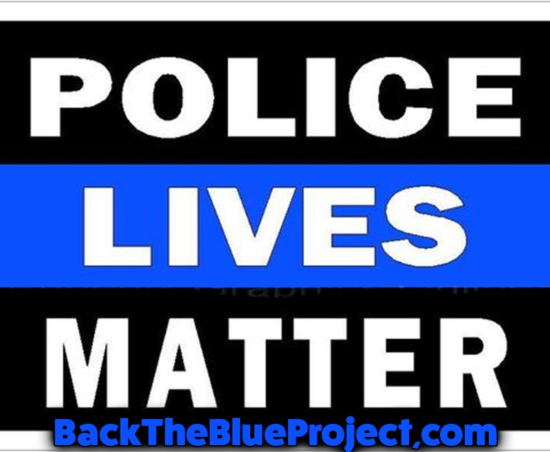 Police Lives Matter Back the Blue Stickers